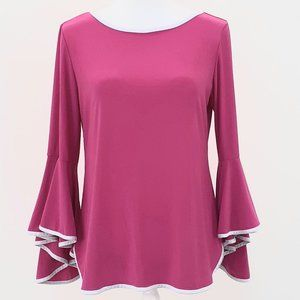 Coco Bianco Womens Relaxed Blouse Sz M